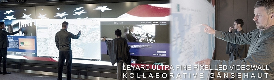 LEYARD Ultra Fine Pixel LED Videowall Multi-Touch