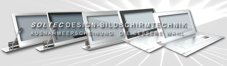 SOLTEC Design Konferenzraum Monitore, ausfahrbar mit Neigung
